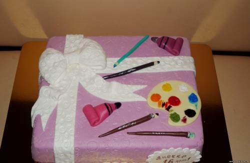 Торт подарок юной художнице 3кг