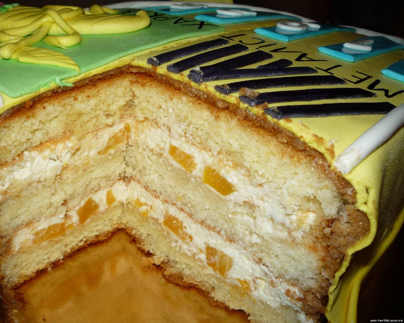 Бисквитный торт с творожно йогуртовым кремом рецепт с пошагово
